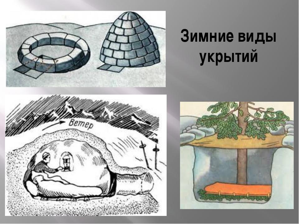 Зимние виды укрытий