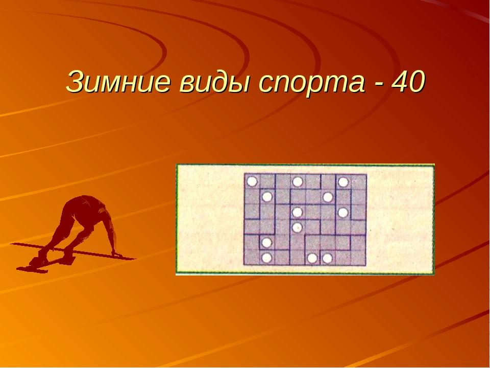 Зимние виды спорта - 40