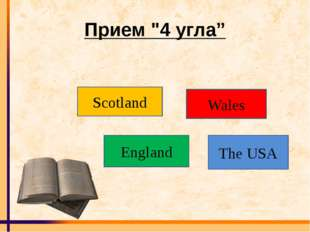 "Прием ""4 угла"" Scotland Wales England The USA"