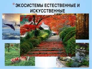 ЭКОСИСТЕМЫ ЕСТЕСТВЕННЫЕ И ИСКУССТВЕННЫЕ Примерами естественных экосистем явля