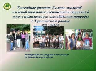 Команда юных исследователей природы от Новокубанского района