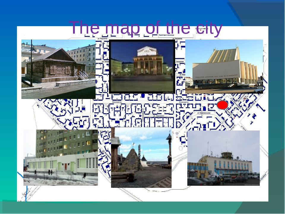 The map of the city
