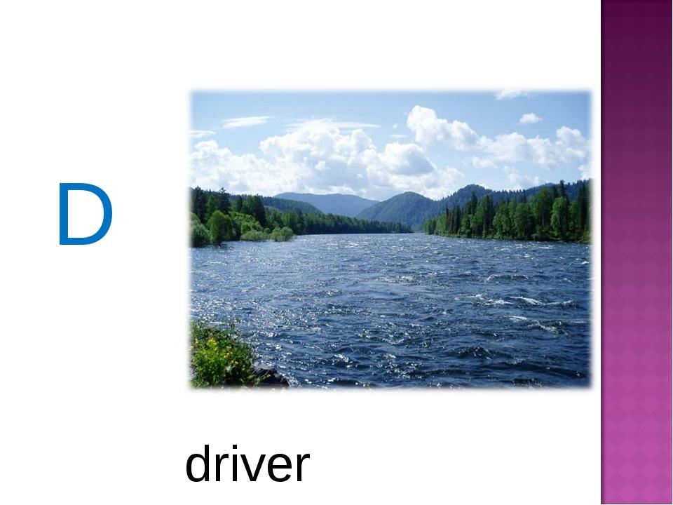 D driver