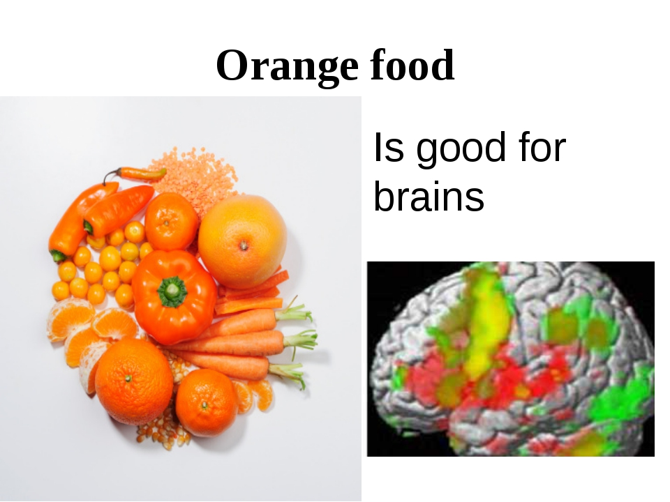 Orange food Is good for brains