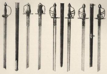 Драгунские палаши 1700-1732 гг