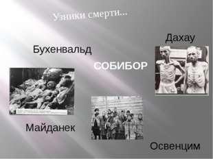 Бухенвальд Освенцим Дахау Майданек Узники смерти... СОБИБОР