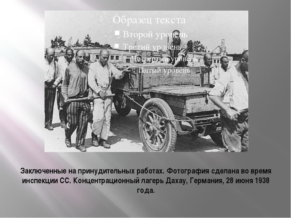 Заключенные на принудительных работах. Фотография сделана во время инспекции...