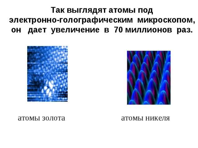 Так выглядят атомы под электронно-голографическим микроскопом, он дает увелич...