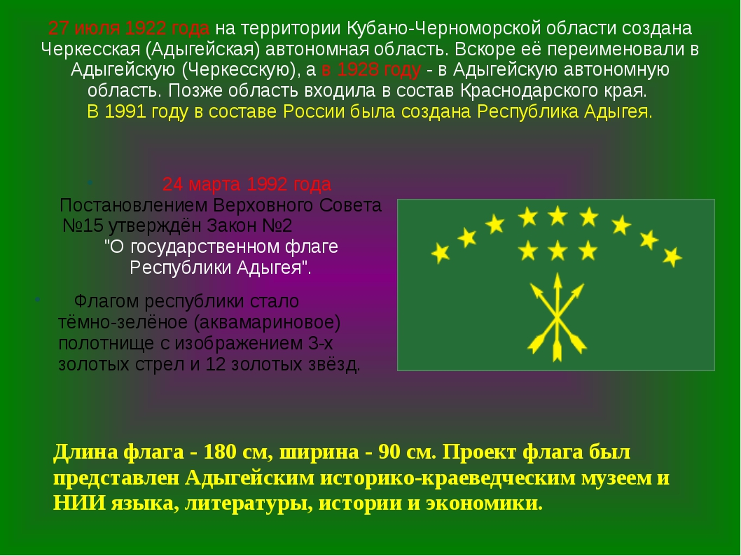 27 июля 1922 года на территории Кубано-Черноморской области создана Черкесска...