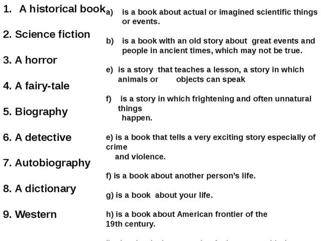 is a book about actual or imagined scientific things or events. is a book wit...