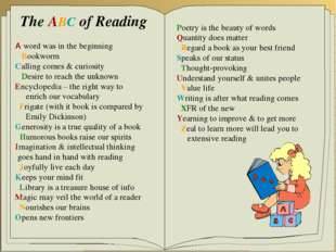 The ABC of Reading A word was in the beginning Bookworm Calling comes & curio
