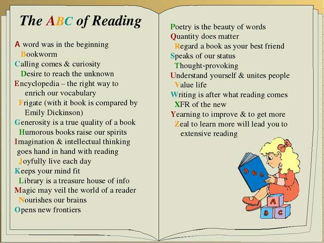 The ABC of Reading A word was in the beginning Bookworm Calling comes & curio...