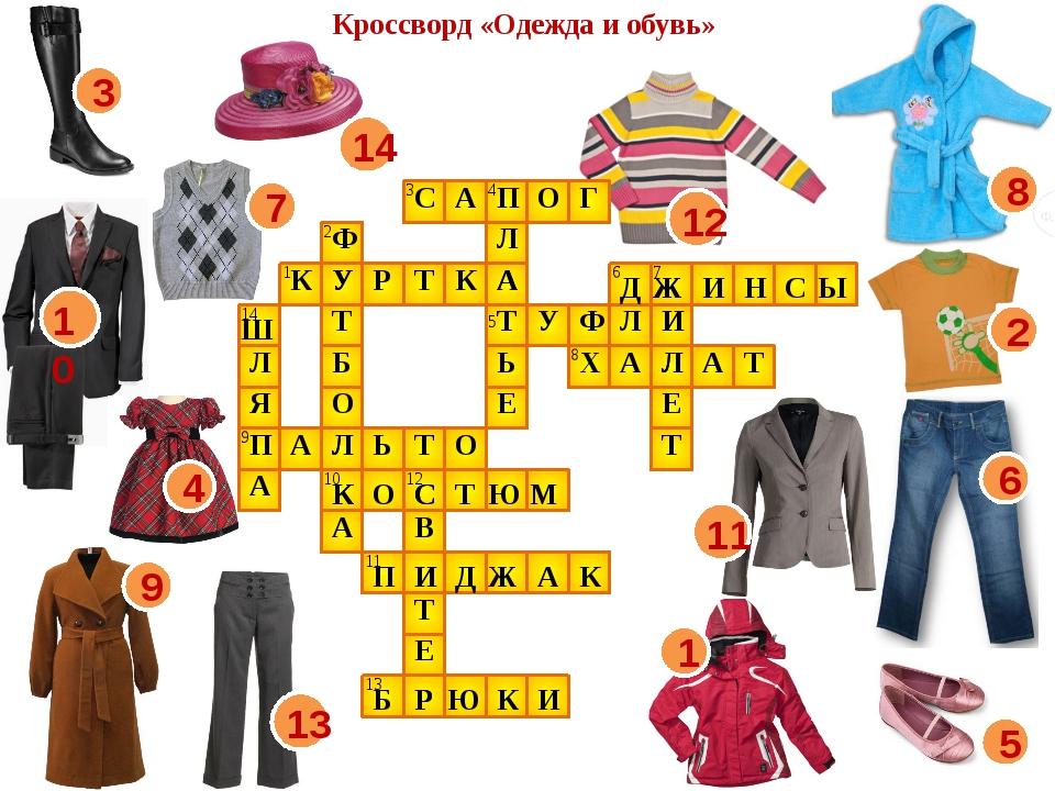 Зимняя верхняя одежда сканворд 8 букв