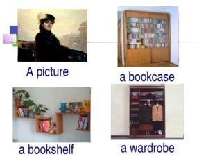 A picture a bookcase a bookshelf a wardrobe