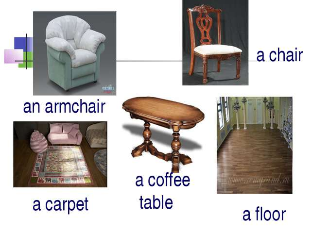 a coffee table an armchair a chair a carpet a floor