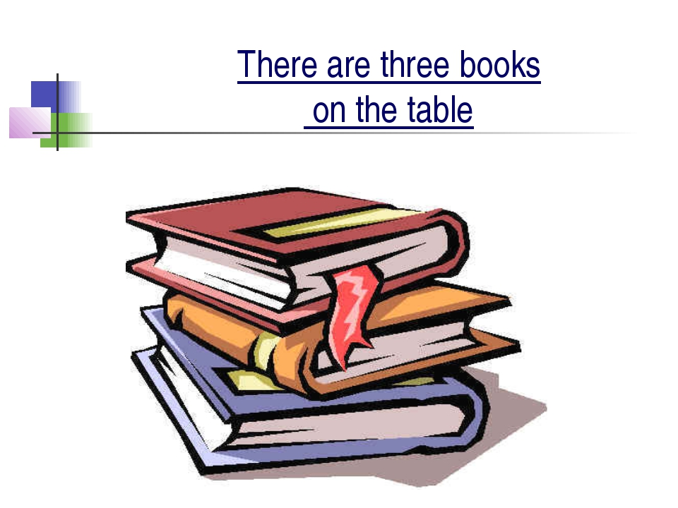 There are three books on the table