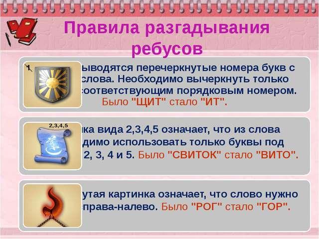 Ребусы по русскому языку для 5 класса