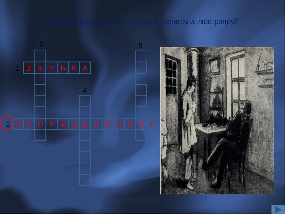 К какому рассказу А.П. Чехова относится иллюстрация? Н Ь К А 1 В А У Л Ш Ы Н...