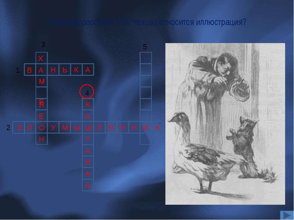 К какому рассказу А.П. Чехова относится иллюстрация? Н Ь К А 1 В А Л У Л Ш Ы...