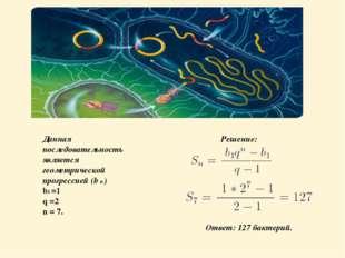 Данная последовательность является геометрической прогрессией (b n ) b1 =1 q