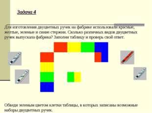 Задача 4 Для изготовления двуцветных ручек на фабрике использовали красные, ж
