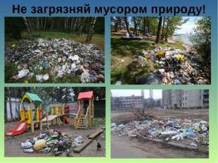 Не загрязняй мусором природу!