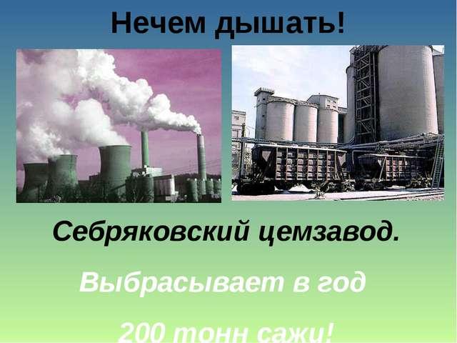 Нечем дышать! Себряковский цемзавод. Выбрасывает в год 200 тонн сажи!