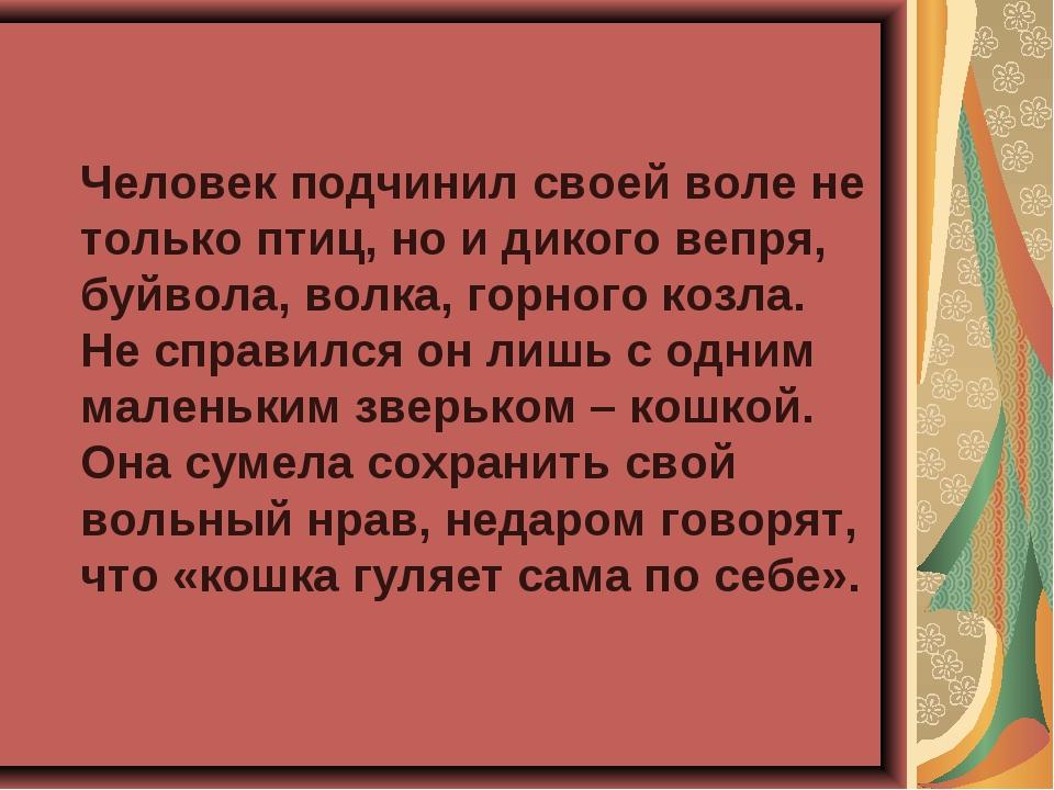 Человек подчинил своей воле не только птиц, но и дикого вепря, буйвола, волк...