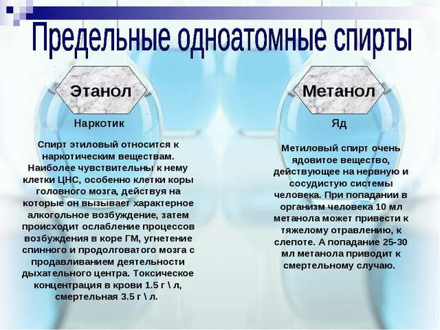 Этанол Метанол Наркотик Яд Метиловый спирт очень ядовитое вещество, действующ...