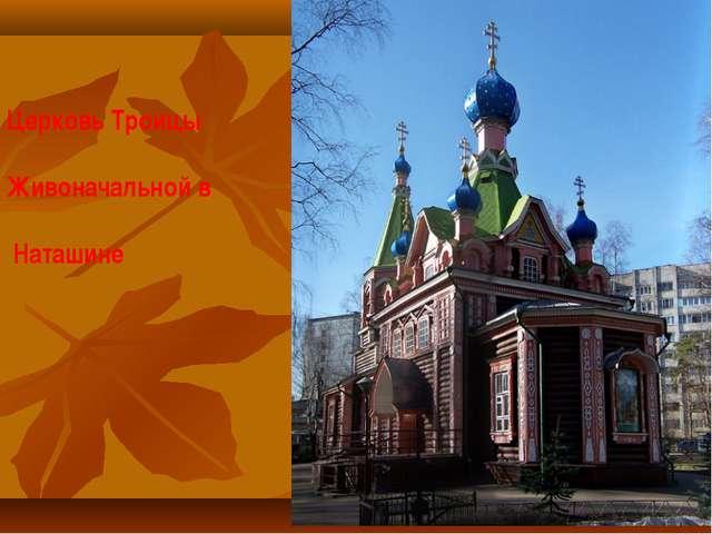 Церковь Троицы Живоначальной в Наташине