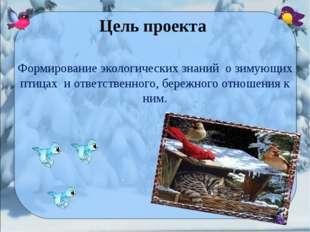 Формирование экологических знаний о зимующих птицах и ответственного, бережно