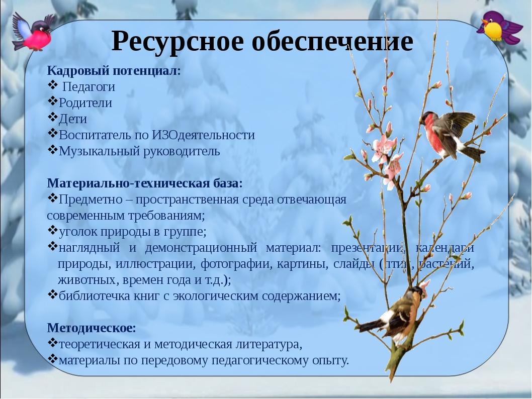 Кадровый потенциал: Педагоги Родители Дети Воспитатель по ИЗОдеятельности Му...