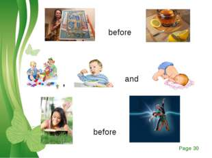 before , and before Free Powerpoint Templates Page *