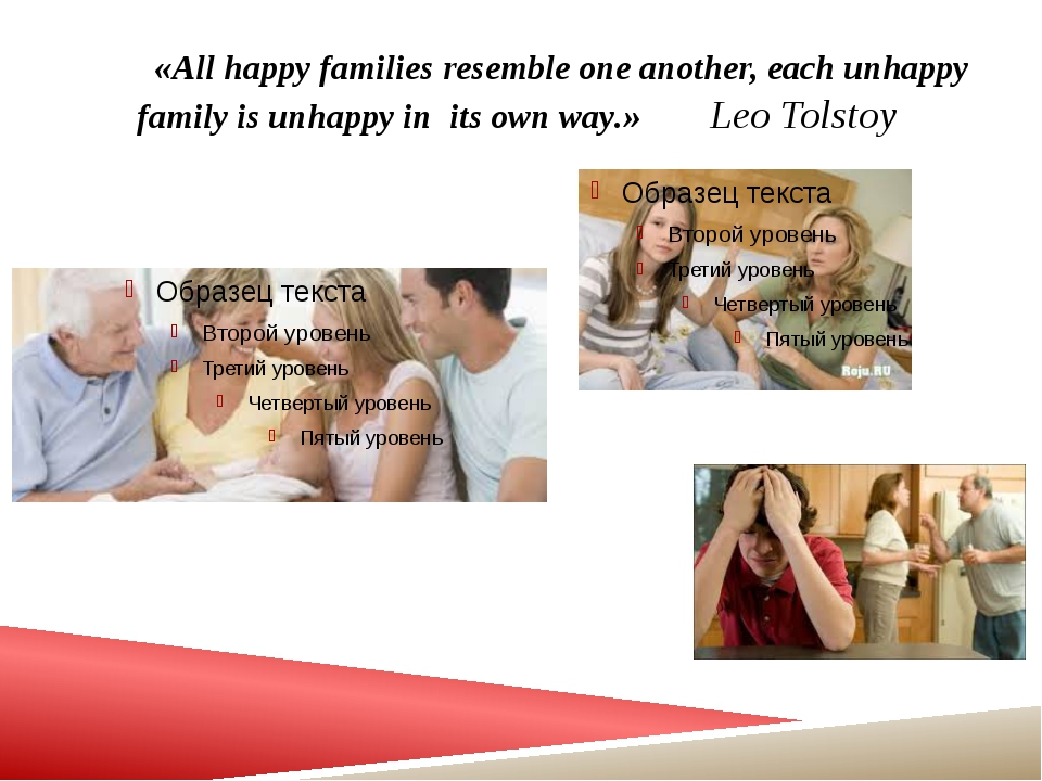«All happy families resemble one another, each unhappy family is unhappy in...