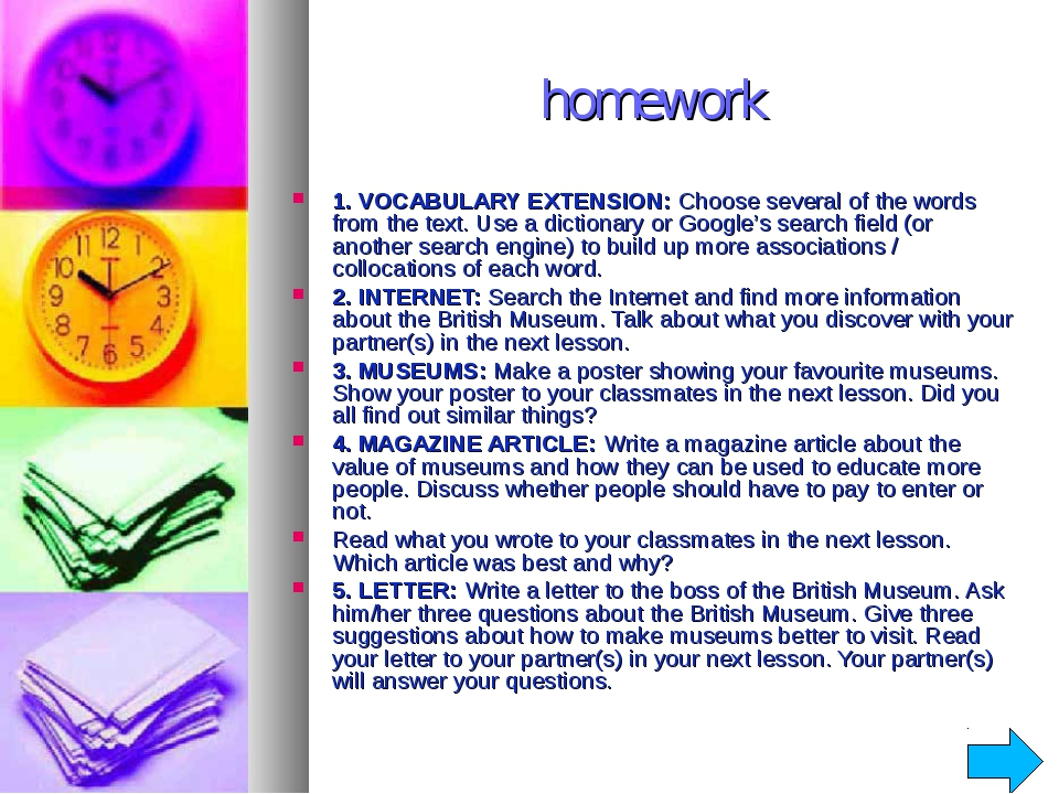homework 1. VOCABULARY EXTENSION: Choose several of the words from the text....