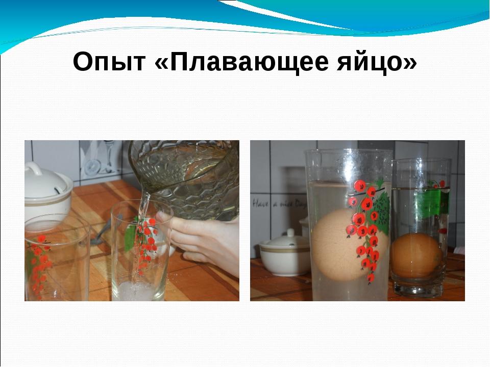 Опыт «Плавающее яйцо» А- пресная вода Б- соленая вода