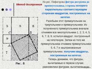 На рис. Пифагорова фигура достроена до прямоугольника, стороны которого пар