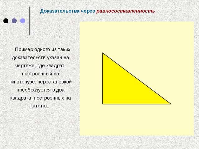 Пример одного из таких доказательств указан на чертеже, где квадрат, построен...
