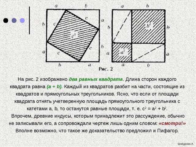 На рис. 2 изображено два равных квадрата. Длина сторон каждого квадрата равн...