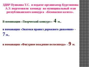 ЗДВР Пушкина Т.С. и педагог-организатор Куртэюпова А.Э. подготовили команду н