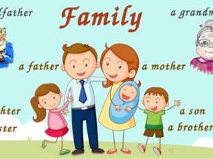 Family a daughter a sister a father a mother a son a brother a grandfather a