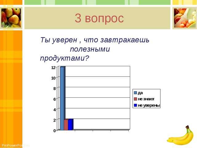 3 вопрос Ты уверен , что завтракаешь полезными продуктами? ProPowerPoint.ru