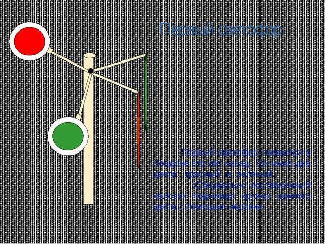 Первый светофор Первый светофор появился в Лондоне сто лет назад. Он имел два...