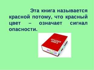 Эта книга называется красной потому, что красный цвет – означает сигнал опас