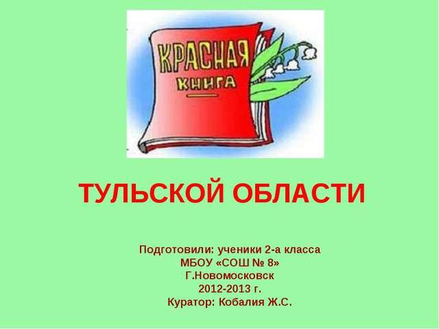 ТУЛЬСКОЙ ОБЛАСТИ Подготовили: ученики 2-а класса МБОУ «СОШ № 8» Г.Новомосков...