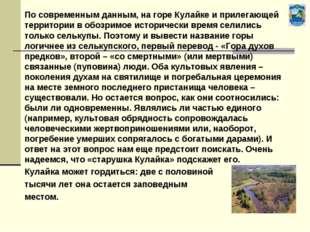 По современным данным, на горе Кулайке и прилегающей территории в обозримое
