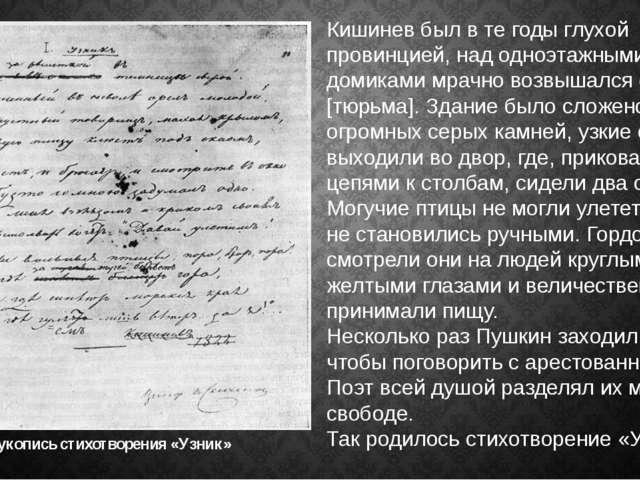 Кишинев был в те годы глухой провинцией, над одноэтажными домиками мрачно воз...