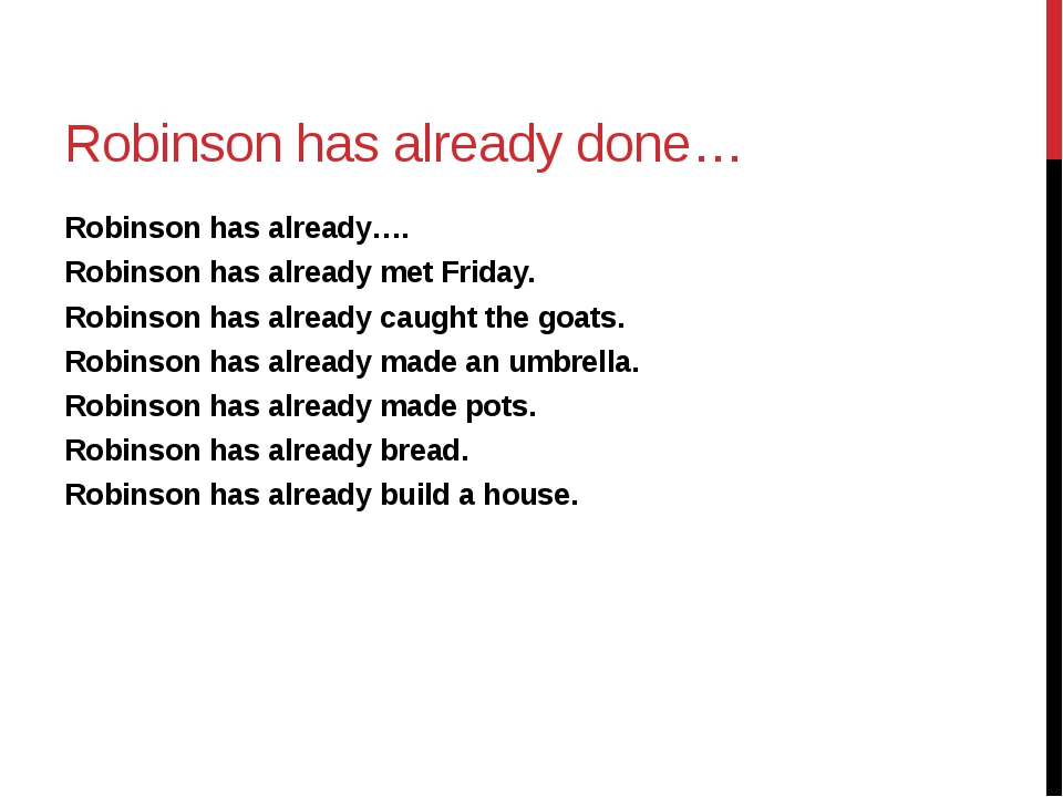 Robinson has already done… Robinson has already…. Robinson has already met Fr...