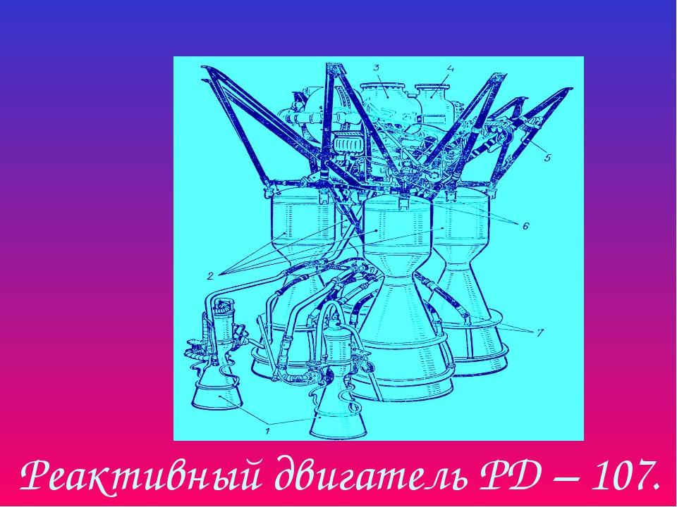 Реактивный двигатель РД – 107.