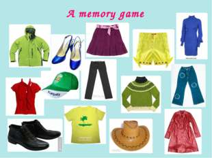 A memory game